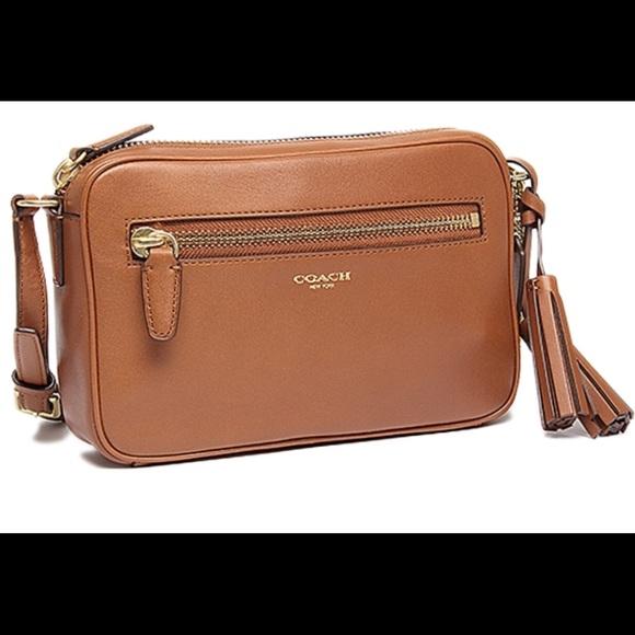 0bed0fd0bc Coach Handbags - Coach Legacy flight bag cognac w gold hardware